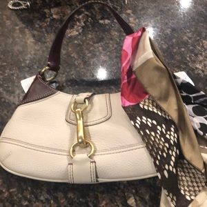 Authentic brand new coach bag with scarf NWT